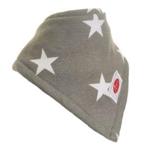 Ziggle Baby Unisex Super Absorbent Bandana Dribble Bib Grey White Stars