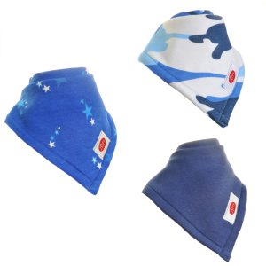 Ziggle Baby Boy Super Absorbent Bandana Dribble Bib 3 pack Bright