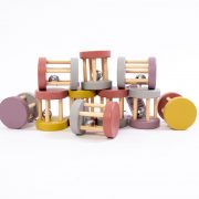 Shake, rattle and roll with this super cute, wooden bell rattle. Baby will love making music with this beautiful toy!