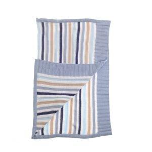 Blue & Beige Stripes Blanket