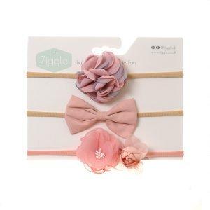 Pink Roses Hairbow Set