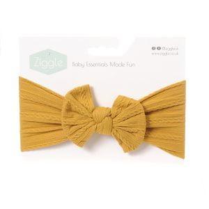 Mustard Top Bow Turban Headband