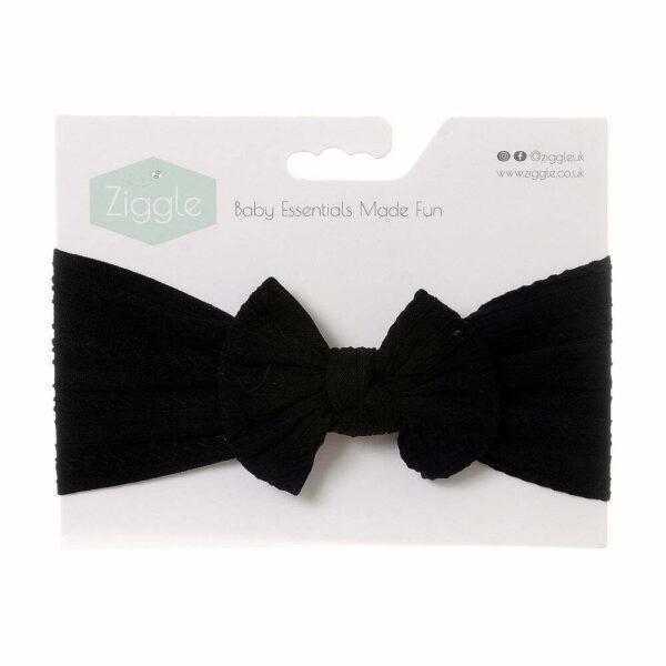 Black Top Bow Turban Headband