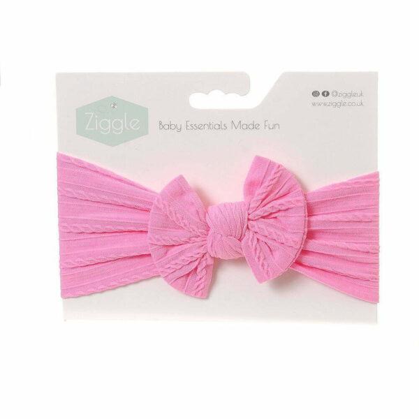 Bright Pink Top Bow Turban Headband