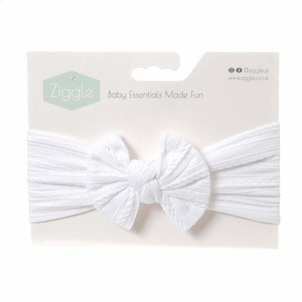 White Top Bow Turban Headband