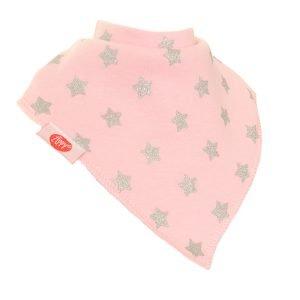Bib - Pink Silver Stars