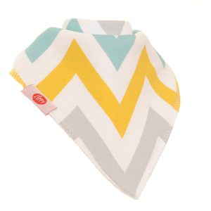 Bib - White Grey Gren and Yellow Pattern