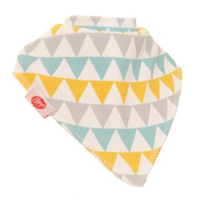 Bib - White Grey Gren and Yellow Triangles