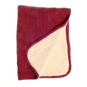 Blanket - Burgundy - Fleece - 1