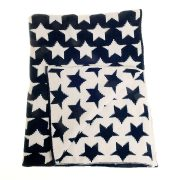 Blanket - Navy Blue Star - Unfolded copy