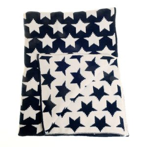 Blanket - Navy Blue Star - Unfolded copy