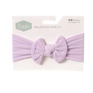 Lavender top bow turban headband