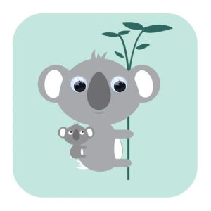 Kimmi Koala Greeting Card