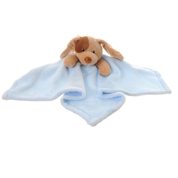 Our gorgeous puppy comforter blanket is the perfect gift for newborns. Super soft velour plush to snuggle with. Lovely toy and soothes babies to sleep.