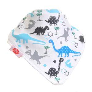 Ziggle Baby Boy Bandana Dribble Bib Uptown Dinosaur