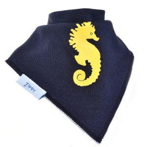 Ziggle Baby Unisex Bandana Dribble Bib Blue Seahorse