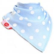 Ziggle Baby Boys Bandana Dribble Bib 4 pack Blue White