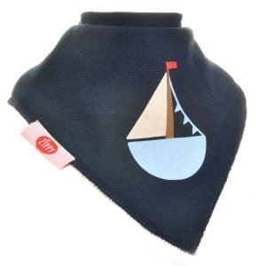 Ziggle Baby Boy Bandana Dribble Bib Blue Yacht