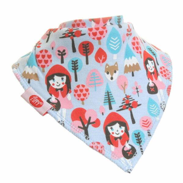 Ziggle Baby Girl Bandana Dribble Bib Little Red Riding Hood