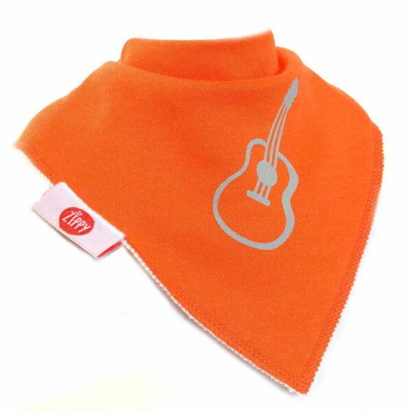 Ziggle Baby Unisex Bandana Dribble Bib Orange Guitar
