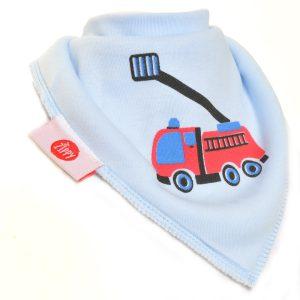 Ziggle Baby Boy Bandana Dribble Bib Blue Fire Truck