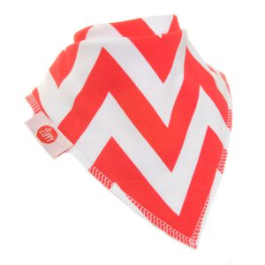 Ziggle Baby Unisex Bandana Dribble Bib Red and White Zig Zag Chevron