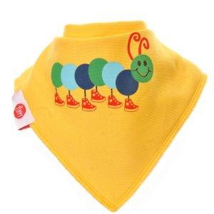 Ziggle Baby Unisex Bandana Dribble Bib Caterpillar Yellow