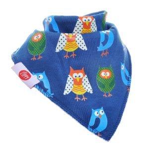 Ziggle Baby Boy Bandana Dribble Bib Owls Woodland