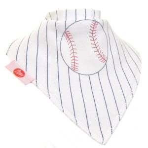 Ziggle Baby Boy Bandana Dribble Bib Baseball
