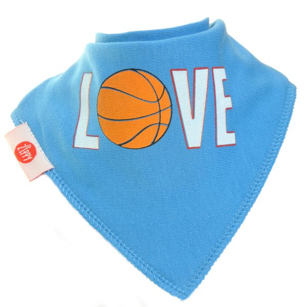 Ziggle Baby Boy Bandana Dribble Bib Love Basketball
