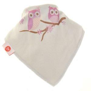 Ziggle Baby Girl Bandana Dribble Bib Vintage Owls