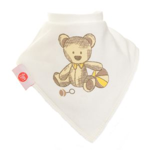 Ziggle Baby Unisex Bandana Dribble Bib Cute Cream Bear