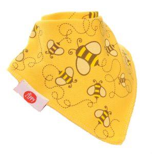 Ziggle Baby Unisex Bandana Dribble Bib Stylish Cream Honeybees