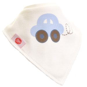 Ziggle Baby Boy Bandana Dribble Bib Cute Boy Car