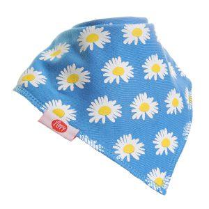 Ziggle Baby Girl Bandana Dribble Bib Blue Sunny Daisies
