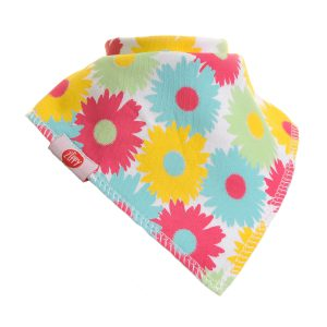 Ziggle Baby Girl Bandana Dribble Bib Bright Flowers