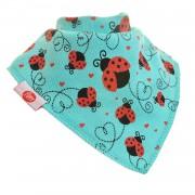 Ziggle Baby Unisex Bandana Dribble Bib Ladybirds