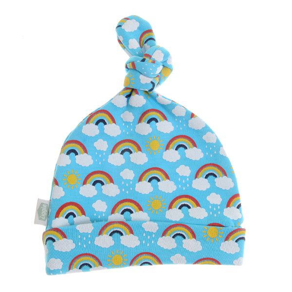 super sweet Rainbows on Blue print.