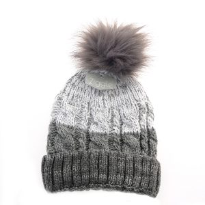 Hat - Cable knit Greys
