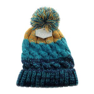 Hat - Cable knit Teal