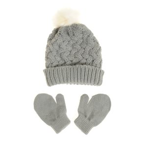Hat - Grey & Gloves