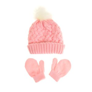 Hat - Pink & Gloves