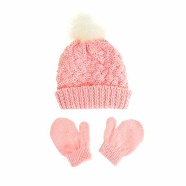Hat - Pink & Gloves