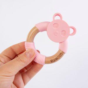 Pink Penny Panda Teether
