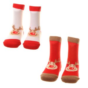 REINDEER SOCKS - 2 DIFFERENT PAIRS