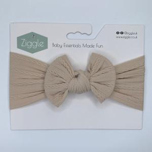 sand top bow turban headband