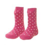 Socks - Girls - Dark Pink Polka