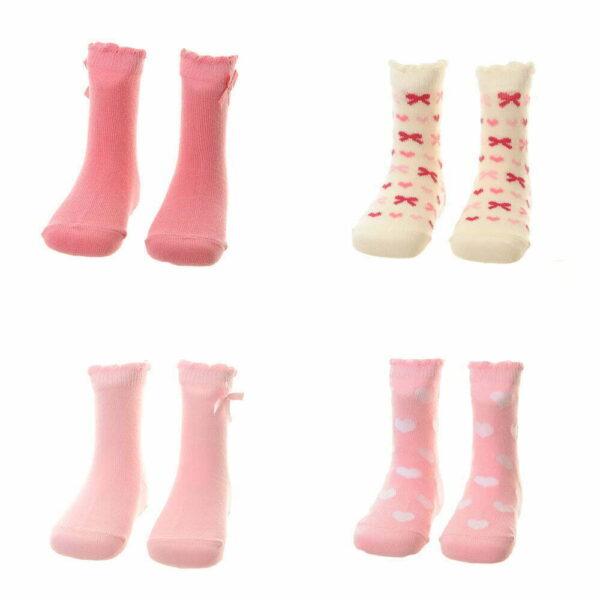 Unboxed socks - Girls pinks