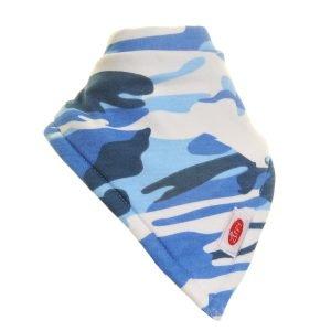 Ziggle Boy Extra Large Absorbent Bandana Dribble Bib camouflage blue