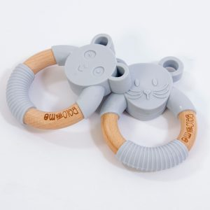 Monty Mouse Grey Teether